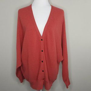 T Tahari Ottoman Ribbed Knit Button Front Cardigan